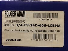 Folger Adam 310-2 3/4-FS-24D-606-LCBMA Electric Strike Body and Faceplate Option