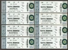 2013 Seattle Mariners Full Unused Ticket Lot of 8 Tickets #2 MINT