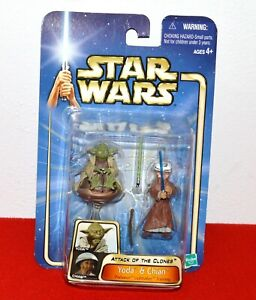 Star Wars Yoda & Chian #15 Action Figure Set Attack Of The Clones Padawan Col. 2
