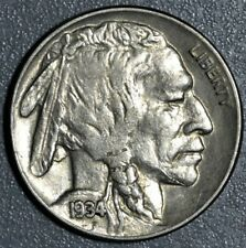 1934 5c BUFFALO NICKEL, GRADE XF+/AU,  SKU-2353