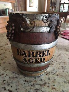 Barrel Aged Resin Wine Bottle Holder Cooler