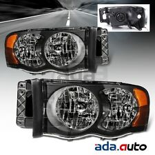 2002-2005 Dodge Ram 1500/03-05 RAM 2500 3500 Headlights Replacement Lamps Set