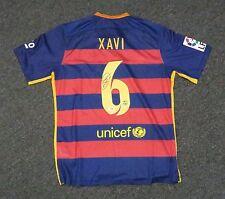 50114 Xavi Hernandez #6 Signed Barcelona Soccer Jersey Autograph XL PSA/DNA COA