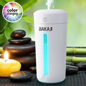 Umidificatore Diffusore Aromi USB Luce LED 7 Colori Aromaterapia Casa Auto Bianc