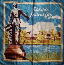 VINTAGE RETRO Silky SCARF souvenir of Adelaide  Boho 70s-80s ☆ VGC ☆ FREE POST ☆