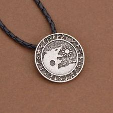 Valknut Viking Necklace Nordic Wolf Pendant Punk Gothic Amulet Jewellery Silver