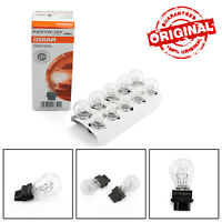 10pcs Sylvania For OSRAM 3157 12V P27/7W W2.5×16Q Miniature Lamp Singal Bulb
