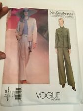 Vogue Sewing Pattern 2410 size 14 16 18 YSL Trouser Suit