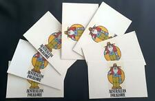 1980 AUSTRALIAN FOLKLORE PACK  x 7 - ALL MINT & PERFECT with 22c strips