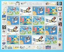 GIBRALTAR Sc 838-31 NH MINISHEET OF 2000 - CHILDREN'S ART. Sc$32