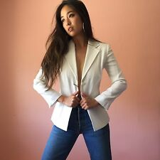 Dolce & Gabbana White Fitted Blazer MSRP $2965