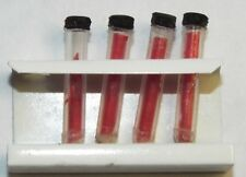 Doll miniature handcrafted test tubes in stand medical labratory 1/12th blood