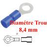 10 Cosses à Oeil Trou Diamétre 8,4 mm Pour Câble de 1,5 a 2,5 mm² à Sertir