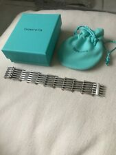 Tiffany co Sterling Silver And 18k Yellow Gold GATE LINK Bracelet