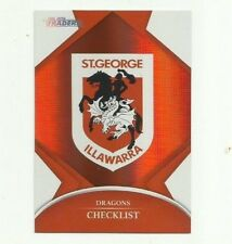 2016 NRL TRADERS PARALLEL ST GEORGE DRAGONS CHECKLIST LOGO P121 CARD FREE POST