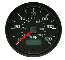 "GPS Speedometer, 3-3/8""/86mm,120 MPH,LED light,black/black,001-SP-BB/GPS"