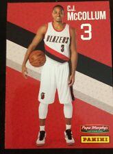 C.J. McCOLLUM Panini Papa Murphy's Basketball Card Portland Trail Blazers NM