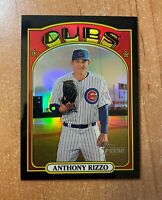 2021 Topps Heritage - Anthony Rizzo - #175 Black Refractor #'d 63/72 CUBS