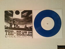"""THE BEATLES - Live Japan EP 7"""" Blue Vinyl 45 rpm Rare Record  OOP Never Played"""