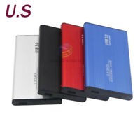 "2.5"" SATA USB 3.0 HDD External Enclosure Hard Drive Case Box Aluminum Alloy"