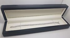 Platinum finish round cut created diamond tennis bracelet gift boxed free post