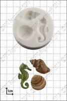 Silicone mould Seahorse & shells   Food Use FPC Sugarcraft FREE UK shipping!