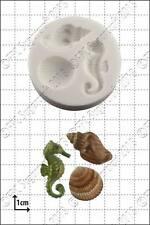Stampo in silicone SEAHORSE & gusci   uso alimentare FPC Sugarcraft spedizione gratuita in UK!