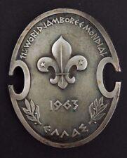 1963 - 11th World Scout Jamboree - Participants Staff Badge Patch - Silver