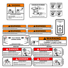 Bobcat Skid Steer WARNING Set Vinyl Decal Sticker -