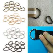 10pcs Metal Non-Welded D Ring Buckle For Bags Straps Cat Dog Collar Dee Buckles