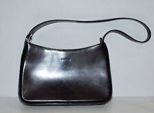 Oroton Cordovan Color Leather Small Shoulder Bag Very Fine Quality Zip Top