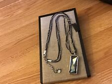 """NWT Uno de 50 Silver-plated/Leather/Swarovski Necklace """"Heaven Can Wait"""""""