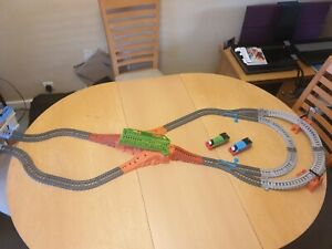 THOMAS TRACKMASTER GREAT RACE  TRACK SET WITH NORMAL THOMAS AND PERCY