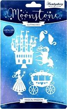 HUNKYDORY MOONSTONE CUTTING DIES MAGICAL KINGDOM 6 DIE SET UNICORN CASTLE SWAN