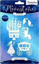 HUNKYDORY MOONSTONE CUTTING DIES MAGICAL KINGDOM 6 DIE SET UNICORN CASTLE SWAN