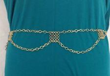 Metal/Chain Medium Width Belts for Women