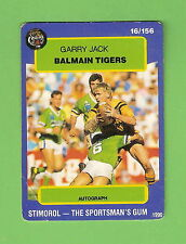 1990 BALMAIN TIGERS RUGBY LEAGUE CARD #16  GARRY JACK