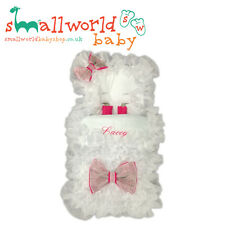 Personalised White & Cersie Extra Frilly Footmuff Cosytoes (NEXT DAY DISPATCH)