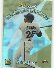 2000 Topps Stars ALL-STAR AUTHORITY Barry Bonds San Francisco Giants AS6 1:13