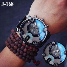 Fashion Stainless Steel Men's Army Military Sport Date Analog Quartz Wrist Watch