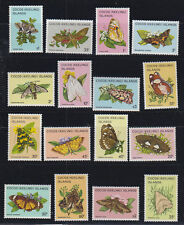 1982-3 BUTTERFLIES AND MOTHS SET OF16  IN PERFECT MUH CONDITION.