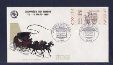 enveloppe 1er jour   journée du timbre  de carnet   Paris      1988