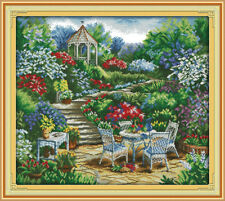 Joy Sunday Counted Cross Stitch Kit 14CT 23in x 21in The Garden Comer Embroidery