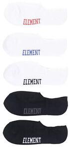 Element Low Rise Socks (5pack) White Black OneSize