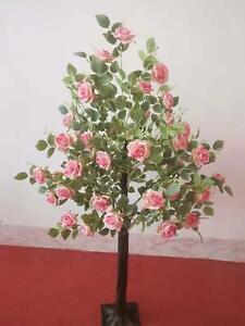 WeddingGeneral® Artificial Blossom Tree 120cm Wedding Event ROSE TREE- PINK ROSE
