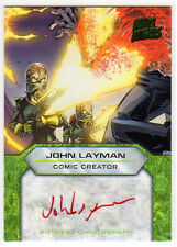 2013 Topps MARS ATTACKS INVASION John Layman Comic Creator Auto Autograph Card