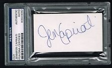 Jennifer Capriati signed autograph auto 2x3.5 cut Tennis Great PSA/DNA Slabbed