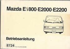 MAZDA E1800 E 2000 E 2200 Betriebsanleitung 1996 Bedienungsanleitung Handbuch BA