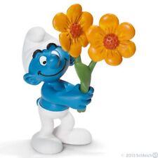 Figurine plastique Schtroumpfs (Les) Schtroumpf fleurs (Tournesol)