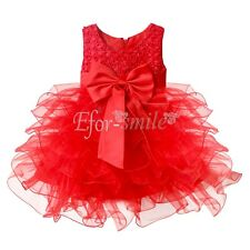Baby Flower Girl Princess Fancy Dress Kids Party Pageant Wedding Tulle Ball Gown